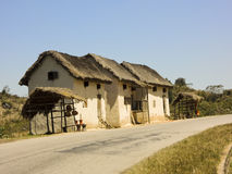 Typical malagasy village - african hut, poverty Stock Images