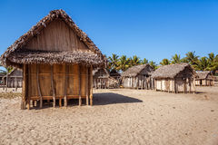 Typical malagasy village Royalty Free Stock Photos
