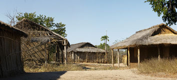 Typical malgasy village - african hut Royalty Free Stock Photos