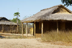 Typical malgasy village - african hut Royalty Free Stock Image