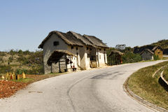 Typical malgasy village - african hut Stock Image