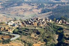 Typical malgasy village Royalty Free Stock Photo