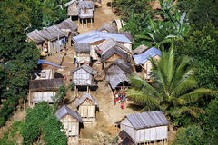 Typical malgasy village - african hut Royalty Free Stock Photography