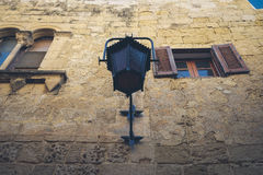 Typical Maltese architecture detail in Mdina city - Malta.  Stock Photo