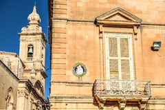 Typical Maltese architecture in Mdina city - Malta.  Stock Photos