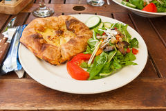 Typical maltese dish. With flaky pastry and fresh vegetables Stock Image