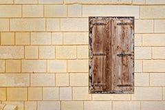 Typical Maltese window in Mdina (Malta).  Stock Photos