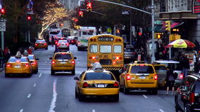 Typical Manhattan street view USA cityscapes. Typical Manhattan street view United States cityscapes videoclip stock footage