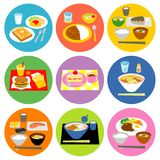 Typical meals in Japan 02. Typical meals in Japan, breakfast and lunch, dinner, snacks,  file Stock Image