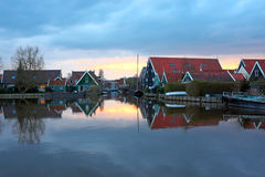 Typical medieval dutch houses in the Netherlands Stock Images