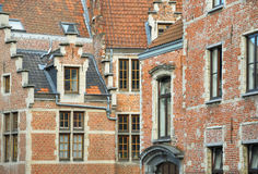 Medieval facades in historical part of Brussels Royalty Free Stock Photos