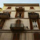 Typical mediterranean facade in Italy stock photo