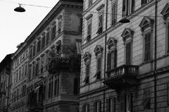 Typical mediterranean facade in the morning royalty free stock images