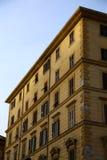 Typical mediterranean facade in the morning stock photo