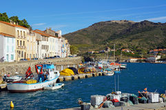 Typical Mediterranean fishing port Stock Photography