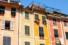 Typical mediterranean house in Portofino, Liguria, Italy stock photos