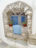 Typical Mediterranean island house entrance Royalty Free Stock Photo