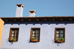 Typical mediterranean old house in Greece Stock Photo