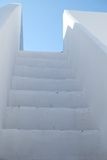 Typical mediterranean staircase found in southern European countries. Location: Olhao, Algarve, Portugal stock photography