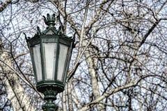 Typical metal street lamp at Lisbon Stock Image
