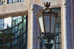 Typical metal street lamp at Lisbon Stock Photography