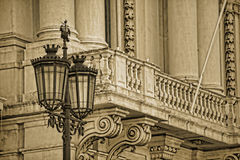 Typical metal street lamp at Lisbon Stock Images