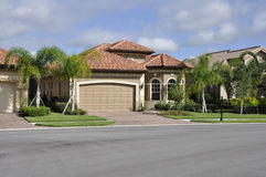 Typical modern home in Florida. Typical single family home in Florida royalty free stock photo