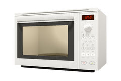 Typical modern microwave isolated Stock Photos