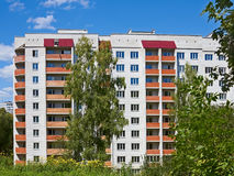 Typical modern residential building Royalty Free Stock Photo