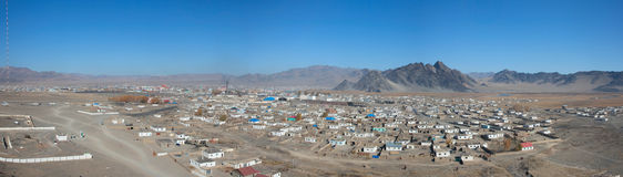 Typical Mongolian city Stock Images