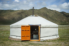 Typical Mongolian Yurt Stock Photography
