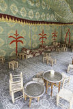 Typical Moroccan Bar to take tea. Detail of a traditional Arabic place Royalty Free Stock Photography