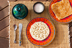 Typical moroccan breakfast Stock Image