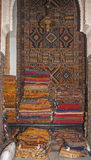 Typical Moroccan carpets in Fez Royalty Free Stock Photo