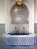 Typical moroccan tiled fountain Royalty Free Stock Photography