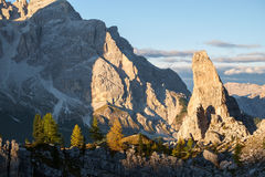 Typical mountain landscape in the Dolomites in Italy. Europe Stock Photos