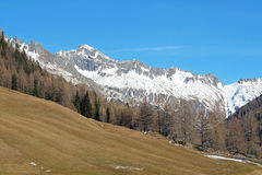 Typical mountain landscape in the Dolomites in Italy,Europe Royalty Free Stock Photography
