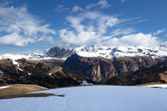 Typical mountain landscape in the Dolomites in Italy,Europe trav Royalty Free Stock Images