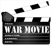 War Movie Clapperboard Royalty Free Stock Photography