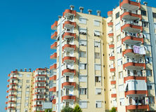 Typical multi-storey residential building in Turkey Royalty Free Stock Images