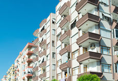 Typical multi-storey residential building in Turkey Stock Image