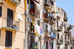 Typical municipal house in Palermo Stock Photo