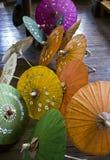 Typical Myanmar Umbrellas Stock Photo