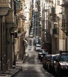 Narrow Road in Senglea Malta Royalty Free Stock Photos