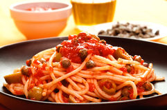 Typical neapolitan pasta Stock Image