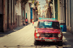 Typical neighborhood in Old Havana Royalty Free Stock Photography