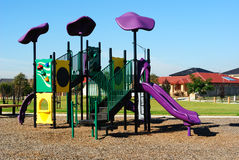 Typical neighborhood playground Stock Images