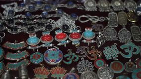 Typical Nepalese jewelry stock video