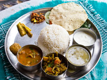 Typical Nepalese Meal, Thali Royalty Free Stock Photos