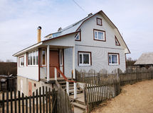 Typical new farmhouse in northern Russia Stock Image